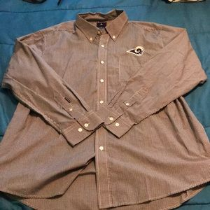 NWOT. Los Angeles Rams button down dress shirt